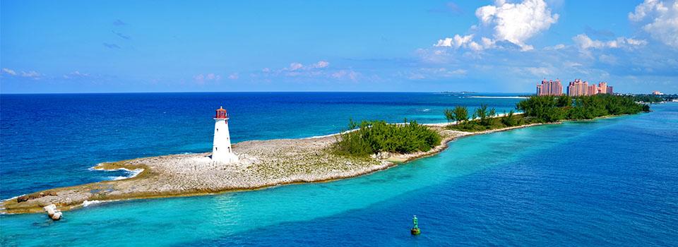 Hafen in Nassau/Bahamas auf östlicher Karibik Kreuzfahrt